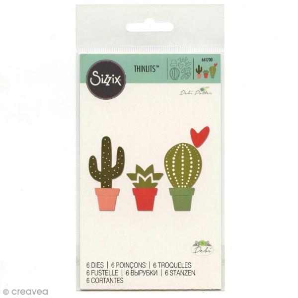 Dies Sizzix Cactus - 6 matrices de découpe - Photo n°1
