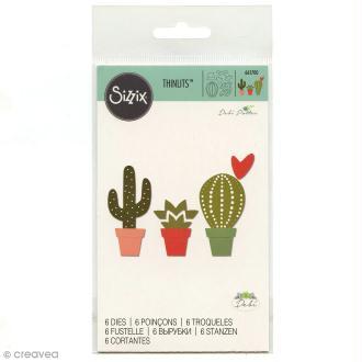 Dies Sizzix Cactus - 6 matrices de découpe