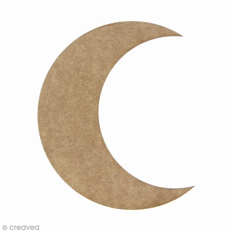 Lune en bois à décorer - 15 cm - Photo n°1
