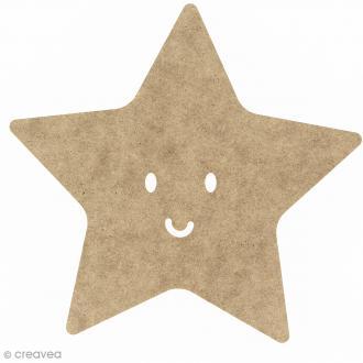 Etoile smile en bois à décorer - 15 cm