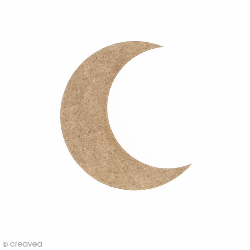 Lune en bois à décorer - 4 x 5 cm - Photo n°1