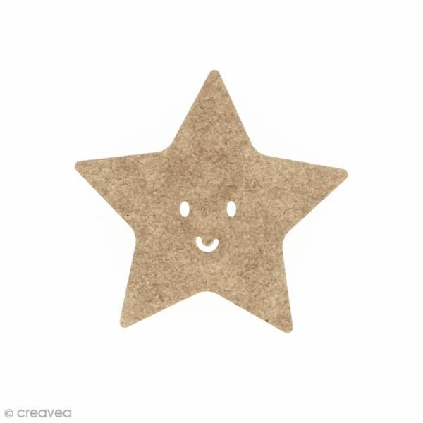 Etoile smile en bois à décorer - 5 x 5 cm - Photo n°1