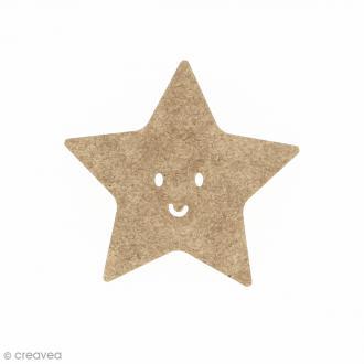Etoile smile en bois à décorer - 5 x 5 cm