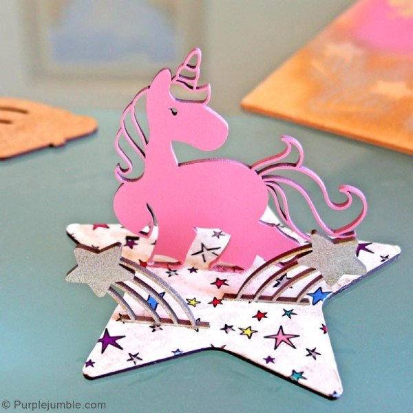 Déco 3D sur socle à monter - Licorne - 5 pcs - Photo n°6