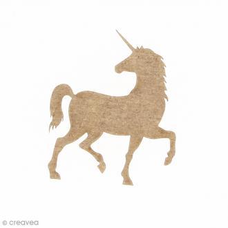 Licorne réaliste en bois à décorer - 4 x 5 cm