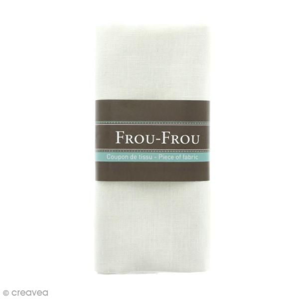 Coupon tissu Lin - Blanc Ivoire Nacré (615) - 140 x 60 cm - Photo n°1