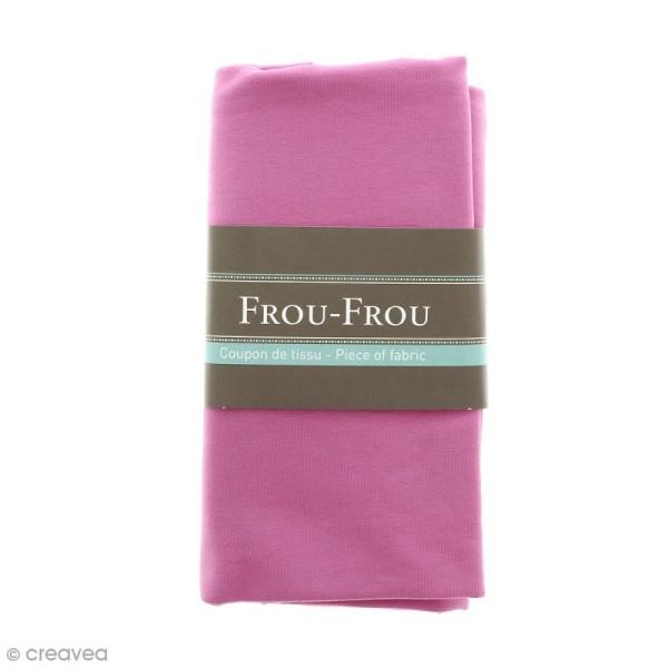 Coupon tissu Jersey - Rose Pommette (608) - 150 x 60 cm - Photo n°1
