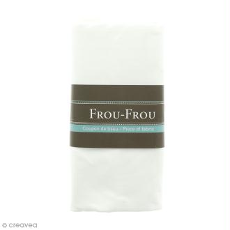 Coupon tissu Jersey - Blanc Ivoire Nacré (615) - 150 x 60 cm