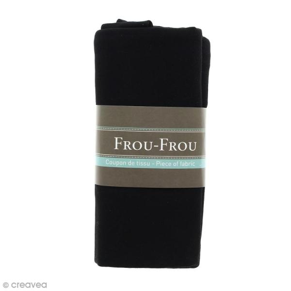Coupon tissu Jersey - Noir de Jais (700) - 150 x 60 cm - Photo n°1