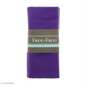 Coupon tissu Jersey - Violet Camélia (707) - 150 x 60 cm