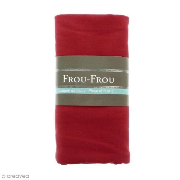 Coupon tissu Jersey - Rouge rubis éclatant (708) - 150 x 60 cm - Photo n°1