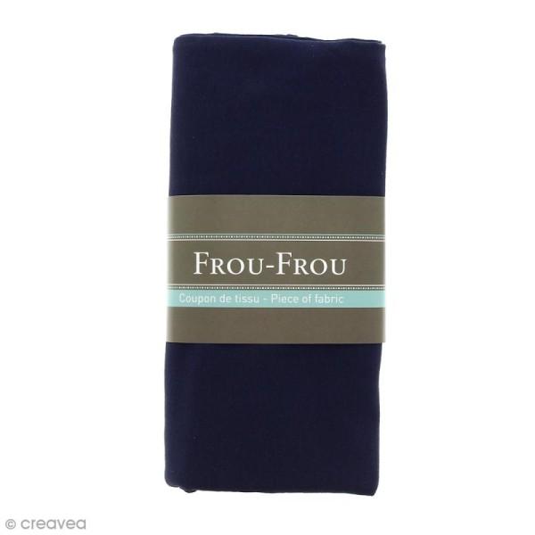 Coupon tissu Jersey - Bleu Navy (720) - 150 x 60 cm - Photo n°1
