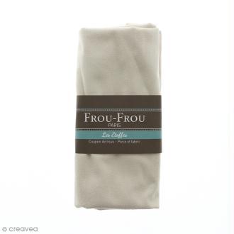 Coupon tissu Suédine - Blanc Ivoire Nacré (615) - 160 x 80 cm
