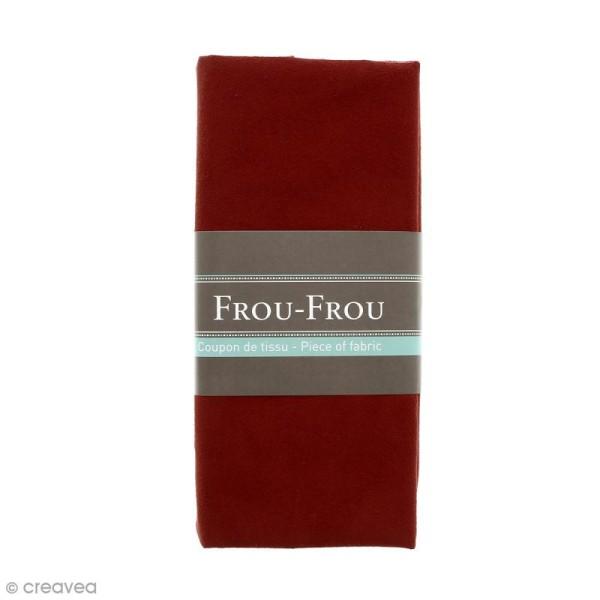 Coupon tissu Suédine - Rouge rubis éclatant (708) - 160 x 80 cm - Photo n°1