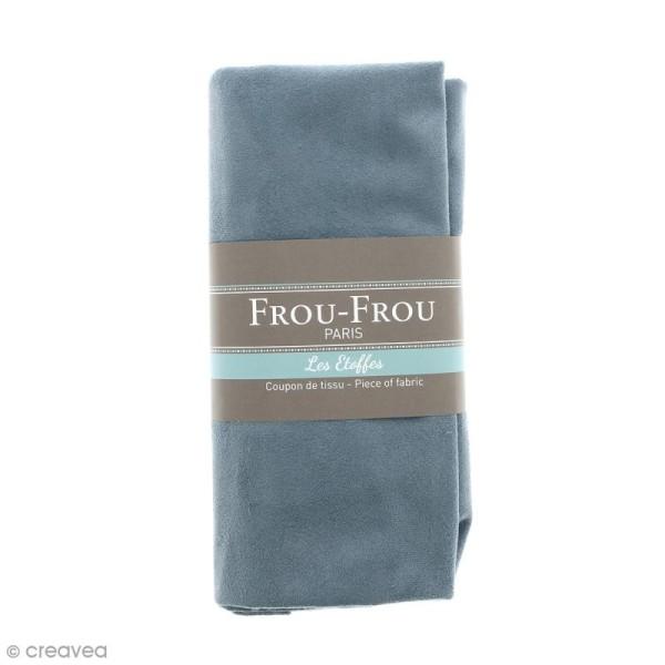 Coupon tissu Suédine - Bleu Végétal (736) - 160 x 80 cm - Photo n°1
