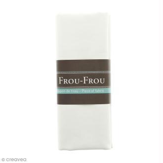 Coupon tissu Simili cuir - Blanc Ivoire Nacré (615) - 140 x 60 cm