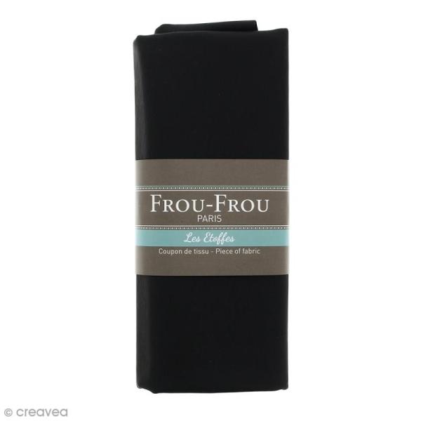 Coupon tissu Simili cuir - Noir de Jais (700) - 140 x 60 cm - Photo n°1