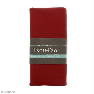 Coupon tissu Simili cuir - Rouge rubis éclatant (708) - 140 x 60 cm
