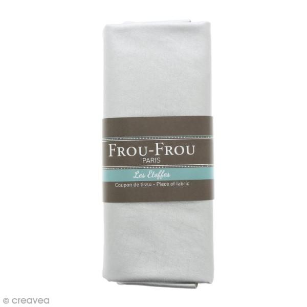 Coupon tissu Simili cuir - Gris Argent scintillant  (900) - 140 x 60 cm - Photo n°1