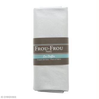 Coupon tissu Simili cuir - Gris Argent scintillant  (900) - 140 x 60 cm