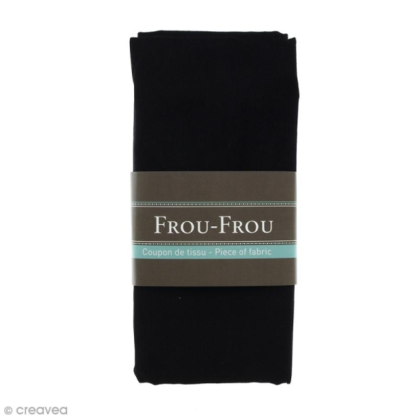 Coupon tissu Velours Millerais fin - Noir de Jais (700) - 140 x 80 cm - Photo n°1