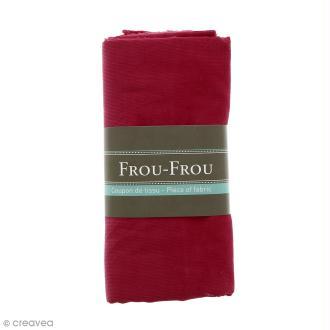 Coupon tissu Velours Millerais fin - Rouge rubis éclatant (708) - 140 x 80 cm