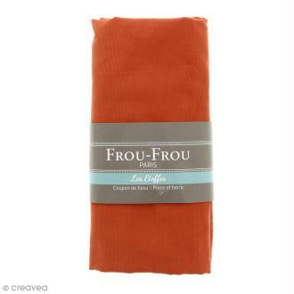 Coupon tissu Velours Millerais fin - Orange Ambre (734) - 140 x 80 cm