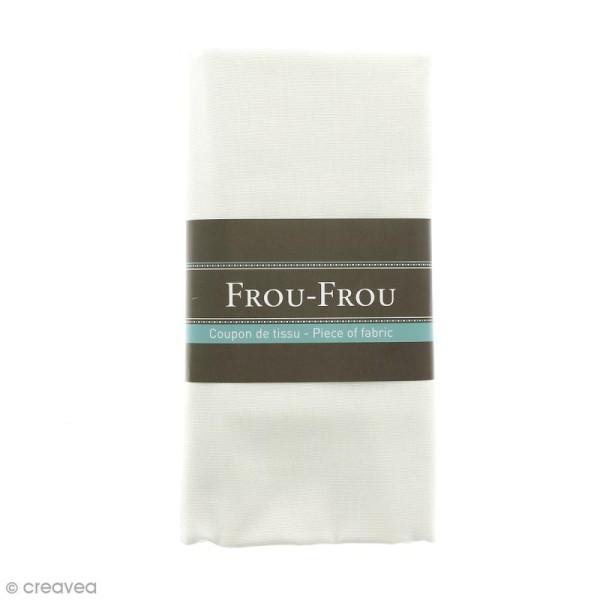 Coupon tissu Toile Coton  - Blanc Ivoire Nacré (615) - 150 x 100 cm - Photo n°1