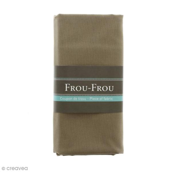 Coupon tissu Toile Coton  - Gris Galet (617) - 150 x 100 cm - Photo n°1