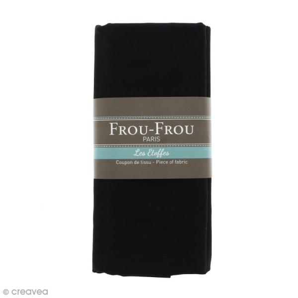 Coupon tissu Toile Coton  - Noir de Jais (700) - 150 x 100 cm - Photo n°1