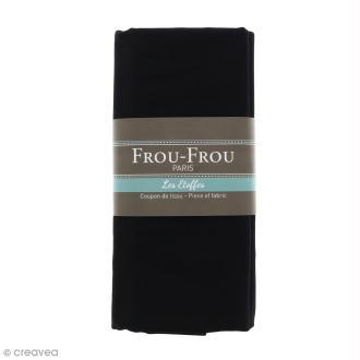 Coupon tissu Toile Coton  - Noir de Jais (700) - 150 x 100 cm