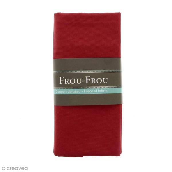 Coupon tissu Toile Coton  - Rouge rubis éclatant (708) - 150 x 100 cm - Photo n°1