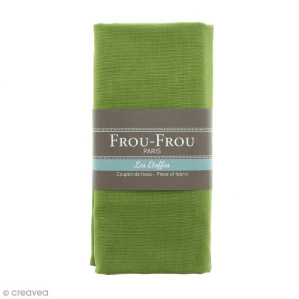 Coupon tissu Toile Coton  - Vert Jardin d'Oliviers (712) - 150 x 100 cm - Photo n°1