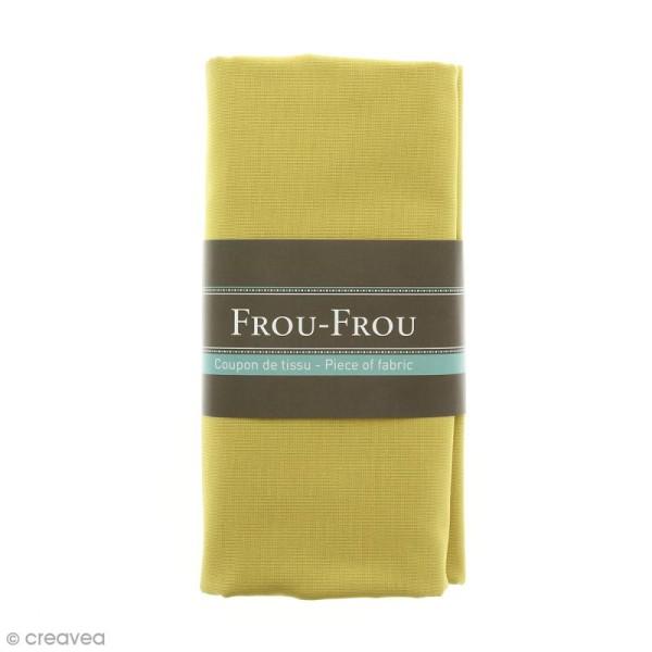 Coupon tissu Toile Coton  - Jaune Poussière d'or (713) - 150 x 100 cm - Photo n°1