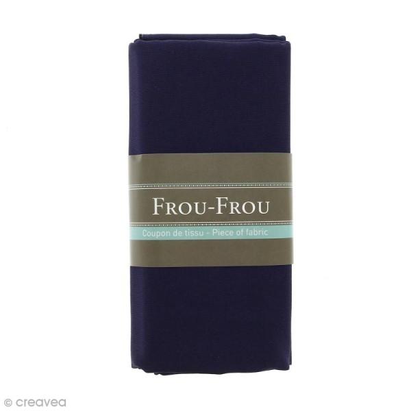 Coupon tissu Toile Coton  - Bleu Navy (720) - 150 x 100 cm - Photo n°1