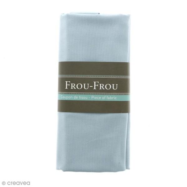 Coupon tissu Toile Coton  - Bleu Végétal (736) - 150 x 100 cm - Photo n°1
