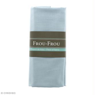 Coupon tissu Toile Coton  - Bleu Végétal (736) - 150 x 100 cm