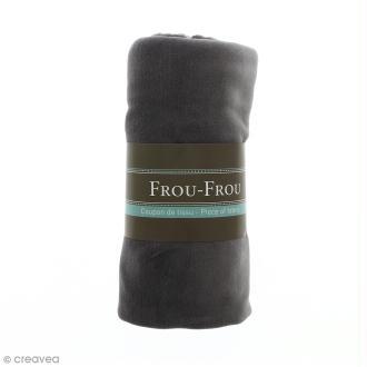 Coupon tissu Jersey Velours - Gris Ciel d'orage (702) - 150 x 60 cm