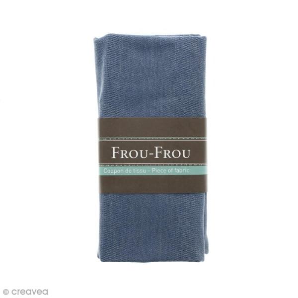 Coupon tissu Jean - Bleu Céleste  (603) - 145 x 60 cm - Photo n°1