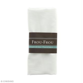 Coupon tissu Satin - Blanc Ivoire Nacré (615) - 150 x 100 cm