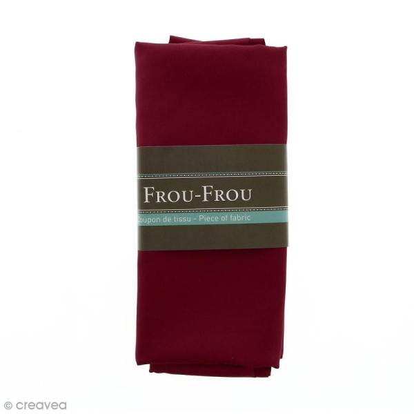 Coupon tissu Satin - Rouge Bordeaux glamour (714) - 150 x 100 cm - Photo n°1