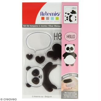 Tampon clear Artemio - Adorable Panda - 6 pcs