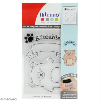Tampon clear Artemio - Adorable Ourson - 5 pcs