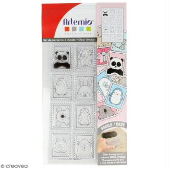 Tampon clear Artemio - Timbres Adorables - 12 pcs