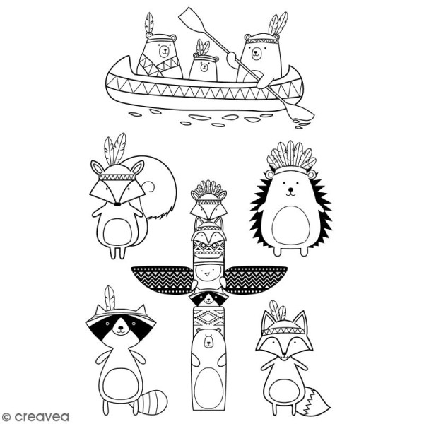 Tampon clear Artemio - Totem Manitou - 6 pcs - Photo n°2