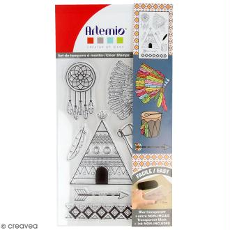 Tampon clear Artemio - Symboles Indian Summer - 9 pcs