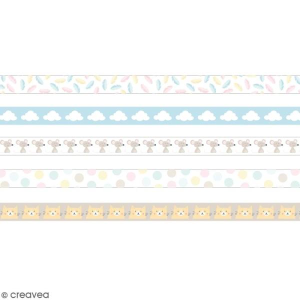 Masking tape Artemio - Adorable Panda - 15 mm x 5 m - 5 pcs - Photo n°2