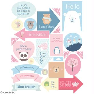 Stickers Texte - Adorable - 52 pcs