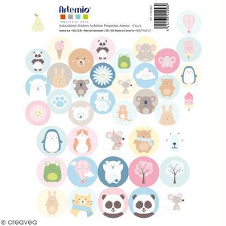 Stickers Ronds - Adorable - 41 pcs