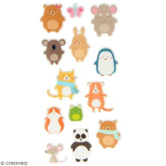 Stickers Puffies Artemio Adorable - Animaux - 13 pcs